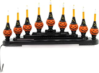 Shiny Brite Christopher Radko Halloween 9 Bubble Brite Pumpkin Candolier