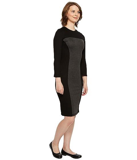 Vestido con Day Clothing negro Co gris panel reversible de Independence larga oscuro manga rgrnRBwq
