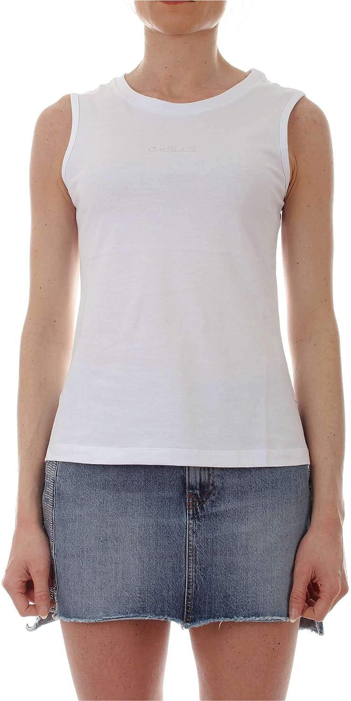 Gaelle Paris Women's GBD4464WHITE White Cotton Tank Top