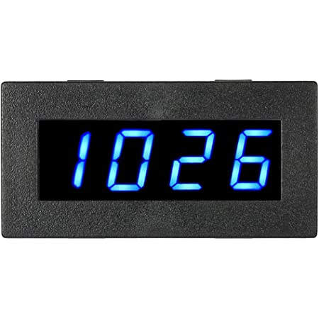 josietomy Compte-Tours//Tachymetre Beautiful Good Trustworthy Bleu LED 4 numerique Tachymetre Metre de Vitesse RPM Tester 5-9999R//M DC8-15V C5P3 RC PWC ATV de Motos Moteurs Universel