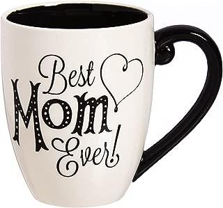 Mom 18 OZ Black Ink Ceramic Cup O' Joe - 4 x 5 x 6 Inches
