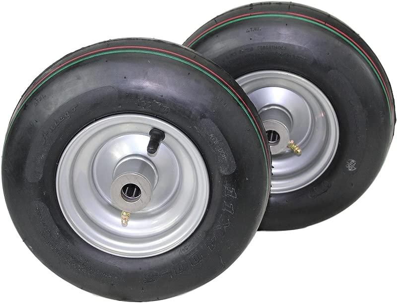 Set Of 2 Hustler Pneumatic Tire Assemblies 11x4 00 5 Fits Raptor And Sport 605133