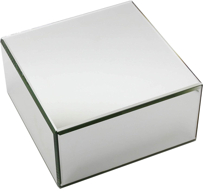 FixtureDisplays 10.25x10.25x5.25 Rectangular Glass Mirror Risers 11926-3-FBA