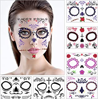 Toyvian Halloween Facial Temporary Tattoo Stickers Creative Face Stickers for Halloween Costume Party