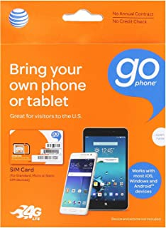 Best AT&T 3-in-1, Triple Cut Universal SIM Card Starter Kit for GoPhone Devices (No Annual Contract) packaging may vary Review