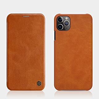 Nillkin Apple iPhone 11 Pro Case Qin Leather Cover - Brown