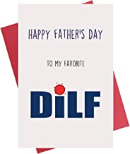 Happy Father's Day to My Favorite DILF Fathers Day Card for Husband from Wife