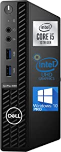 Dell OptiPlex 3080 Micro Desktop Computer – 10TH Gen Intel Core i5-10500T Upto 3.8GHz - 16GB RAM, 512GB M.2 NVME SSD, AC Wi-Fi, Bluetooth, DisplayPort, HDMI - Windows 10 Pro