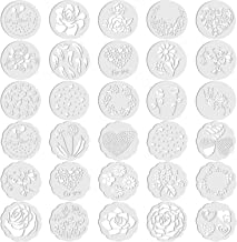 30 Pieces Cake Stencils Decorating Cake Stencil Template Baking Stencil Molds Floral Leaf Spray Cake Stencil for Birthday ...