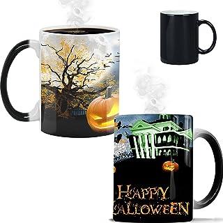 Halloween Coffee Mug, Ceramic Heat-Sensitive Color Changing Mug,Walking Dead Merchandise Discoloration Coffee Mug Hallowee...