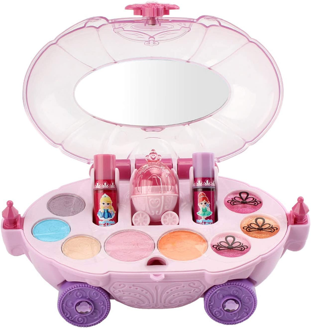 Oakland Mall It is very popular ONWRACE Makeup Kit for Girls Car Novelty Washable with M