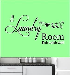 The Laundry Room Citation, vinyle, mur, autocollant d'art. Murale, décalque. Maison, décor mural. Cuisine, salle de bains,...
