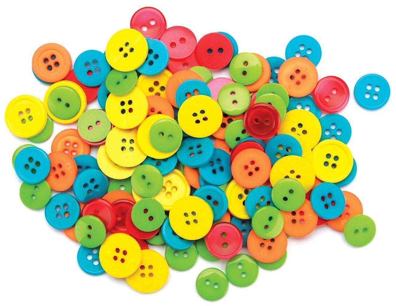 Blumenthal Lansing Basic Buttons Assorted Sizes, 130/Pkg, Citrus