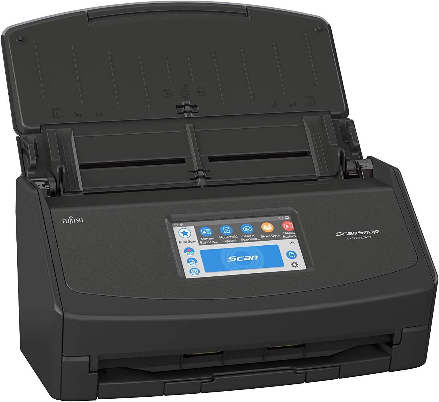 Fujitsu ScanSnap iX1500 Color Duplex Document Scanner with Touch Screen for Mac and PC (Black Model, 2020 Release)