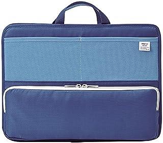 リヒトラブ スタンドポケット(ヨコ型) A4 ブルー A-7664-8 【まとめ買い3個セット】