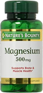 Nature's Bounty Magnesium 500mg, 100 Count, Pack of 2