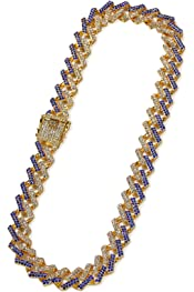 Aooaz Alloy Necklace for Men Cuban Link Curb Chain Minimalist Jewelry Necklaces Necklace for Men Hiphop W:9mm L:18-30inch