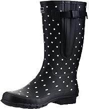 Jileon Wide Calf Durable Rubber Rain Boots for Women - up to 19 inch Calf - Standard Foot Width