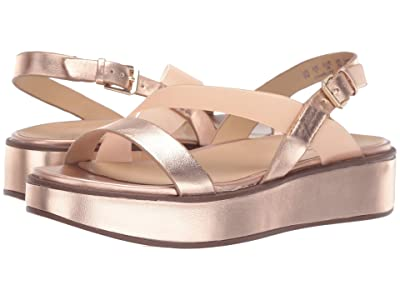 Naturalizer Charlize (Rose Gold Metallic Leather/Clear) Women