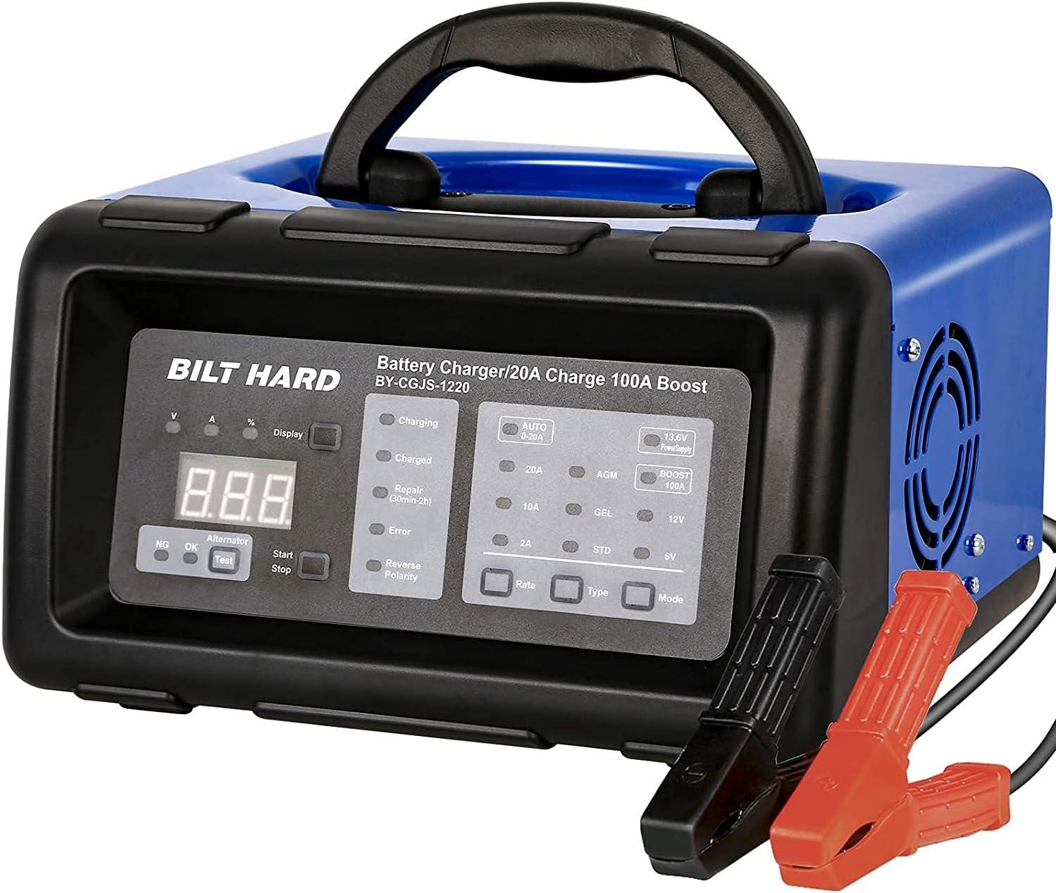 Bilt Hard Smart Battery Charger, Maintainer, Desulfator, and Diagnostic