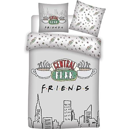 Housse de Couette Centrale Perk Friends Coton lit 135 cm