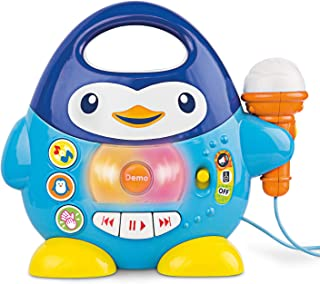 Penguin Karaoke Buddy - Toy with Microphone, Music Player with Preset Melodies and Echo Effect. for Kids Ages 12 Months Up. Play Karaoke Machine for Toddlers.