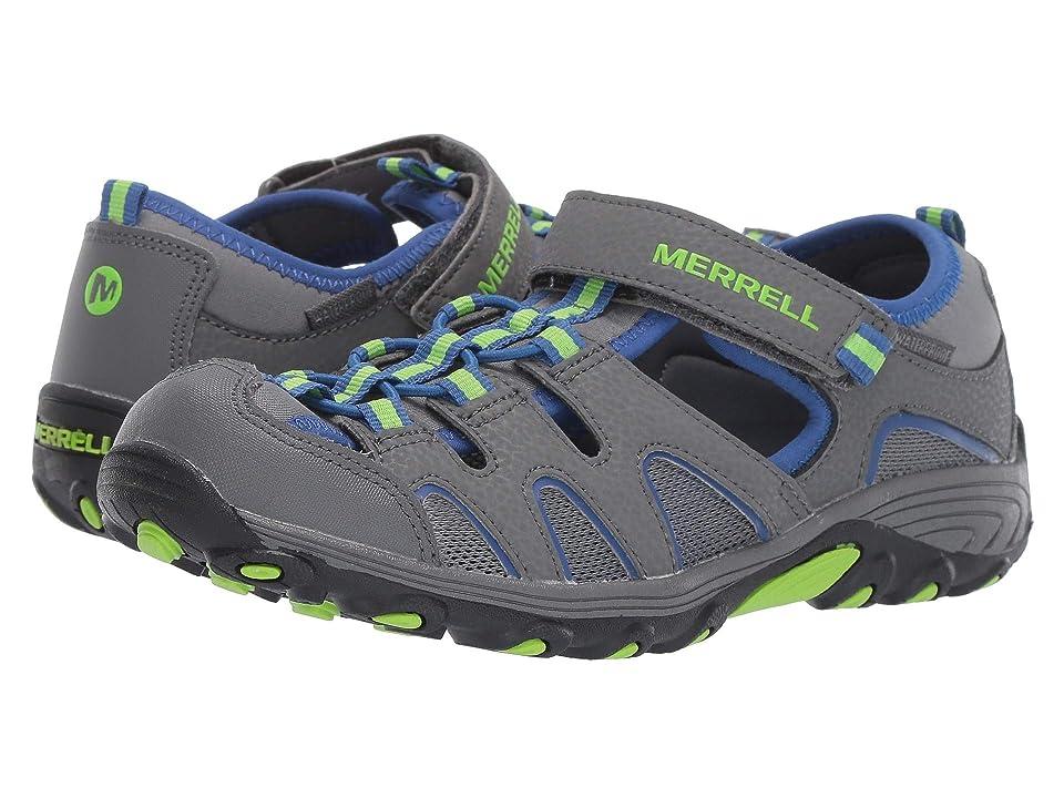 Merrell Kids Hydro H2O Hiker Sandals (Big Kid) (Grey/Lime/Cobalt) Boy