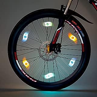 willceal Bike Spoke Light, Bike Wheel Light,Tyre Wire Right with Flash Model Neon Lamps,Bike Safety Alarm Light.