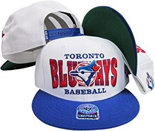 Toronto Blue Jays White/Blue Two Tone Plastic Snapback Adjustable Snap Back Hat/Cap