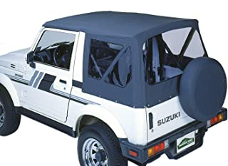 Pavement Ends by Bestop 51133-15 Black Denim Replay Replacement Soft Top Clear Windows; No Door Skins Included for 1987-1995 Suzuki Samurai