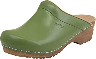 Sanita Sandra Mule Clog | Original Handmade Flexible Leather Clog for Women | Maximum stability | Anatomical shaped footbe...
