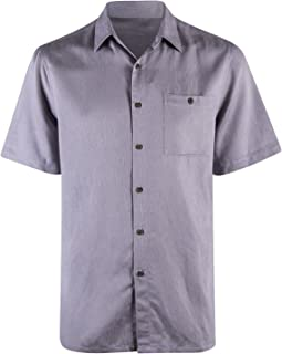 Campia Men's Classic Button Down Shirt, Short Sleeves in Solid Colors