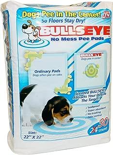 Bullseye No Mess Leak-Proof/Absorbent Target Pet Dog Pee Pads - 30 Count