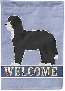 Caroline's Treasures CK3774GF Black Sheepadoodle Welcome Flag Garden Size, Small, Multicolor