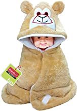 Brandonn Smiley Hooded Blanket Cum Wrapper for Babies (Beige)