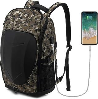 KINGSLONGリュック メンズ バックパック 大容量 ビジネスリュック 防水カバー付 防衝撃 usbポート付き 17.3インチPCポケットあり 登山、通学、通勤、出張、旅行バッグ