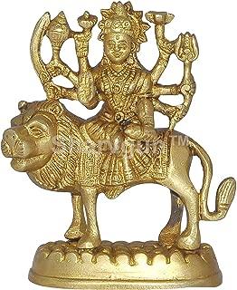 Sharvgun Brass Statue and Sculpture of Maa Durga Idol Hindu Art Puja Gifts 4.3 inches