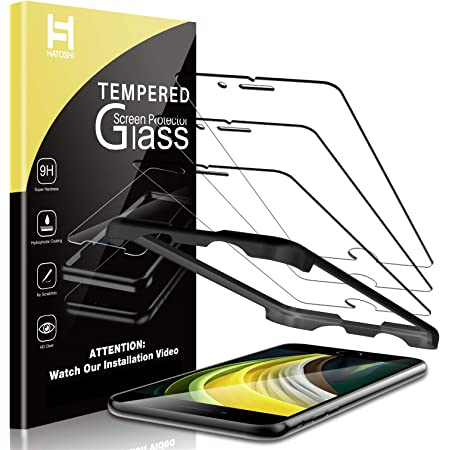 HATOSHI 3 Pack Screen Protector Compatible with iPhone 11 Pro Max, iPhone XS Max Tempered Glass Film- Alignment Tray Easy Installation Case Friendly HD Clarity Bubble Free 9H Glass Screen 6.5-inch