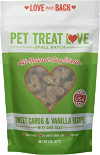 Pet Treat Love PTL-SC Sweet Carob Vanilla Dog Treats (1 Pouch), Large/One Size