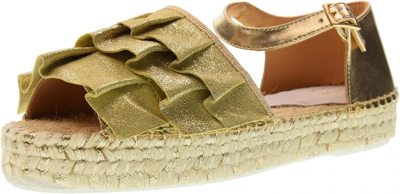 LAGOA JUNIOR shoes Woman Sandal GIRONA Junior Lurex Voula 'Platino