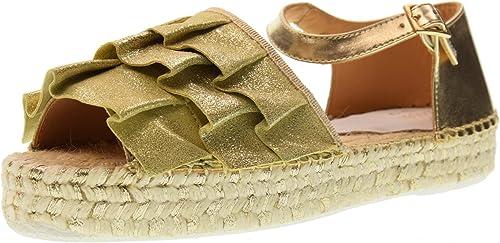 LAGOA JUNIOR Chaussures Femme Femme Femme Sandale GIRONA Junior Lurex Voula 'Platino 0e1