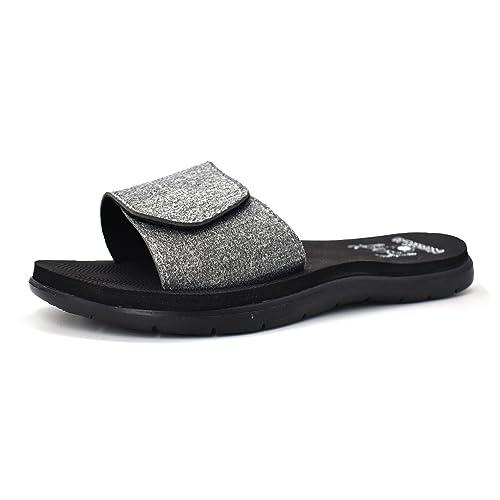 e18a9f1d3 KuaiLu Women s Flip Flops Soft Padded Beach Sandals