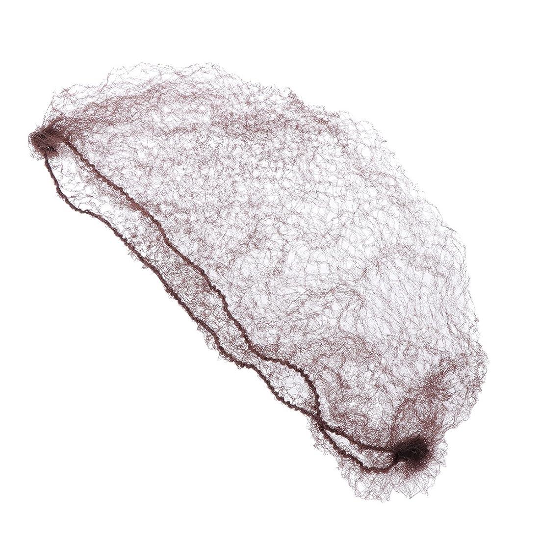 カテナ依存ラベSUPVOX 50個の目に見えない髪はかつらと髪を固定するコーヒーのための弾性エッジメッシュをネット