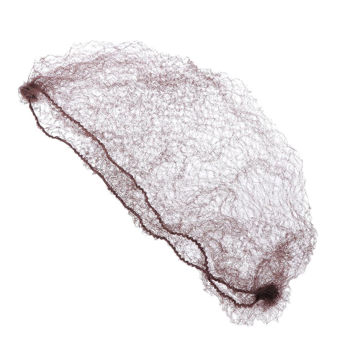 分散証言エージェントSUPVOX 50個の目に見えない髪はかつらと髪を固定するコーヒーのための弾性エッジメッシュをネット