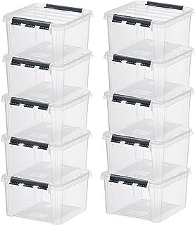 10 x HAMMARPLAST SmartStore Classic 12 Box - 8 Liter - 280 x 280 x 170mm - transparent