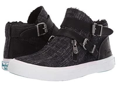 Blowfish Mojo-B SHR (Solid Black Grungy Weave/Amazonia PU) Women