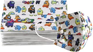 VIDARE - Paq 10 Cubrebocas Infantil Termosellado 3 Capas Plisado - P (Among Us)