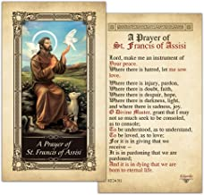 St.Francis of Assisi Laminated Holy Card - Pack of 25