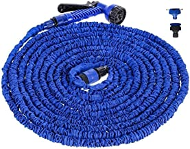 JHKJ Garden Hose, 3 Times Expanding Hose Pipe Expandable Garden Hose,Expandable Flexible No Kink Garden Hose for Washing Car, Watering Flowers,200FT