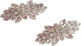 Wedding Bridal Clear Crystal Rhinestone Shoe High Heel Pumps Stiletto Clips Decoration Charms
